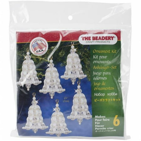 - Holiday Beaded Ornament Kit-Crystal & Pearl Bell