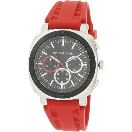 5c3b814902a9 Michael Kors Men s Bax MK8552 Red Silicone Japanese Quartz Fashion Watch