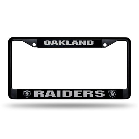 Oakland Raiders Nfl Black License Plate Frame