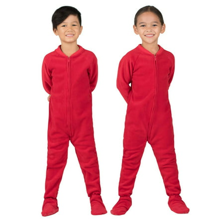8f076c85f338 Footed Pajamas - Bright Red Toddler Fleece Onesie