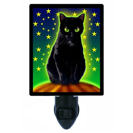 Night Light - Photo Light - Halloween Kitty - Cat - Halloween Cats Cover Photos