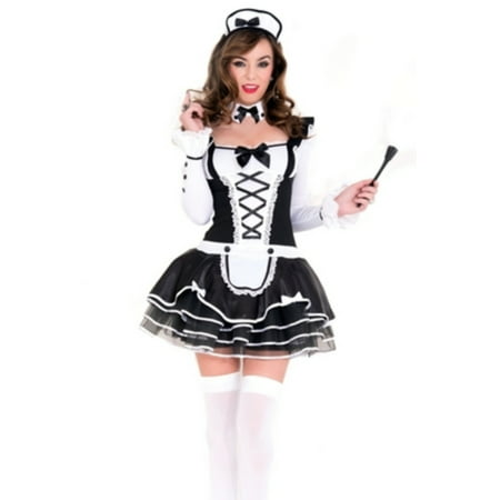 Pretty And Proper French Maid Music Legs 70645 Black/White (French Maid Uniforms)