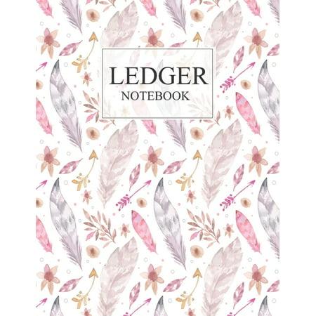 Ledger Notebook: 3 Column Ledger Transaction Register Personal Balance Columns Record-Keeping Books, Paper 100 pages Sheets Column Balance Sheets