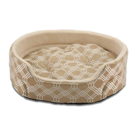 SoftSpot, Medium, Round, Cat Bed Lounger, Brown, 19-in