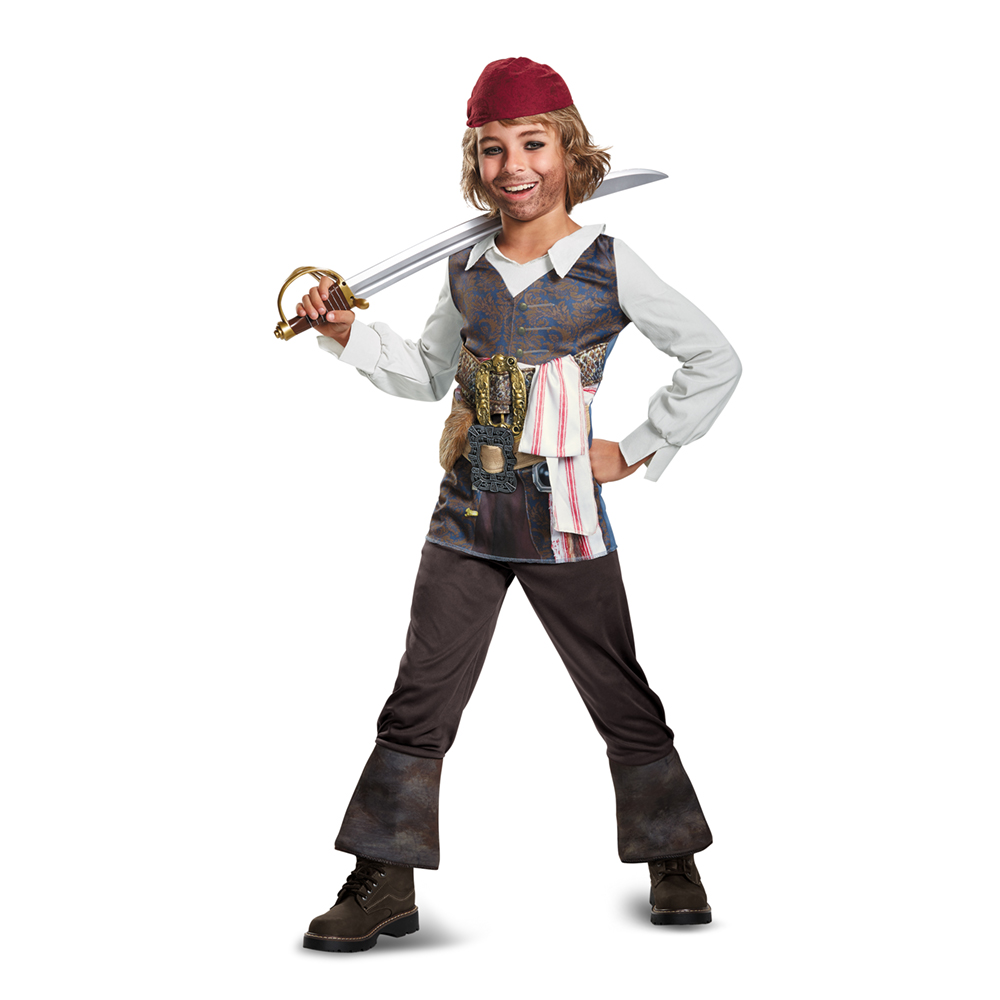 Pirate of the Caribbean Boys' Captain Jack Sparrow Costume by Disguise