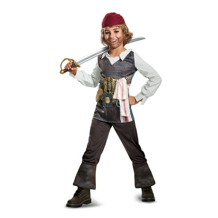 Pirate of the Caribbean Boys' Captain Jack Sparrow Costume