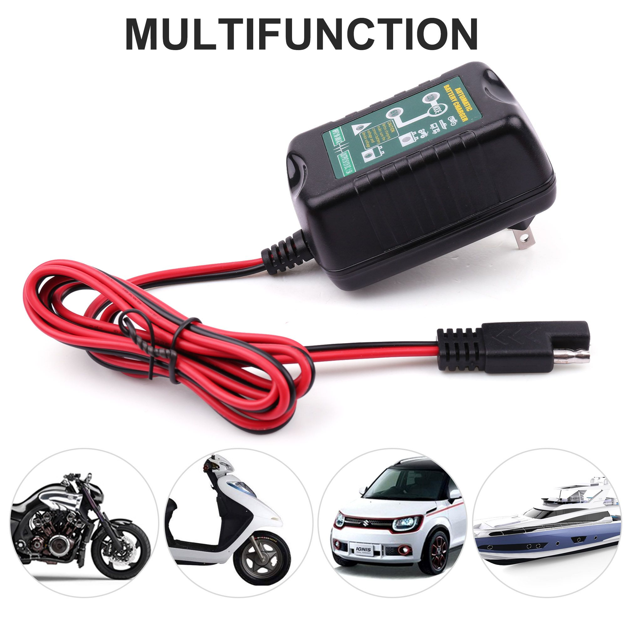 Smart Charging Battery Charger Maintainer 6 12V  Trickle RV Car Truck Motorcycle