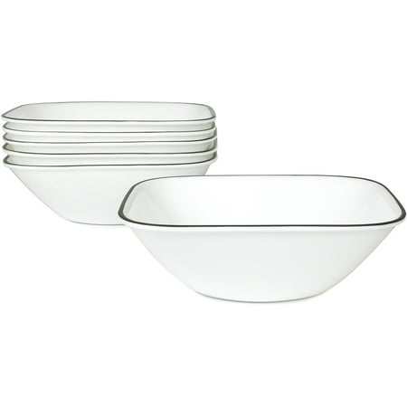 Corelle Square Simple Lines 22-oz Soup Bowl, Set of 6