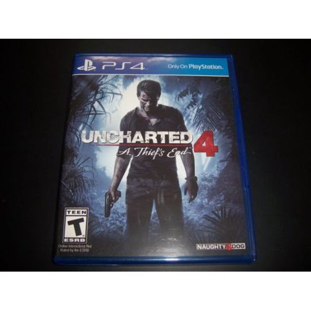 Replacement Case (NO GAME) UNCHARTED 4 A THIEF'S END PlayStation 4 PS4 Box - Walmart.com