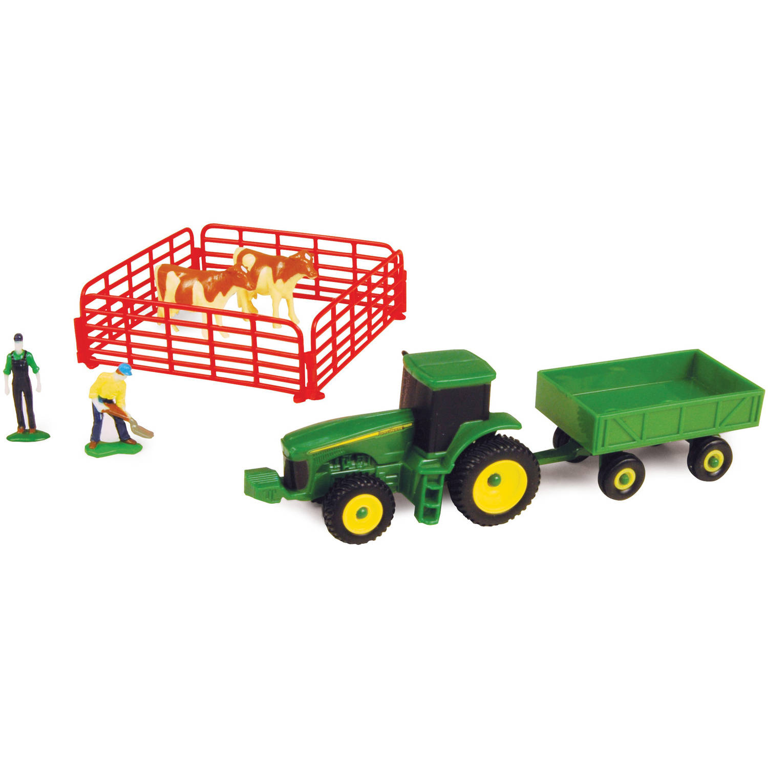 ERTL John Deere 10-Piece Set with Barge Wagon