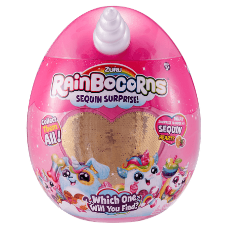 Rainbocorns Sequin Surprise Unicorn Plush in Giant Mystery Egg by ZURU](Halloween Egg Surprise)