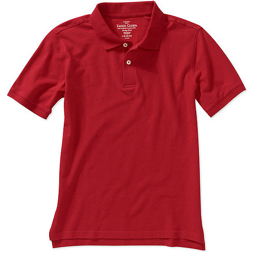 Faded Glory Boys' Short Sleeve Solid Polo Shirt