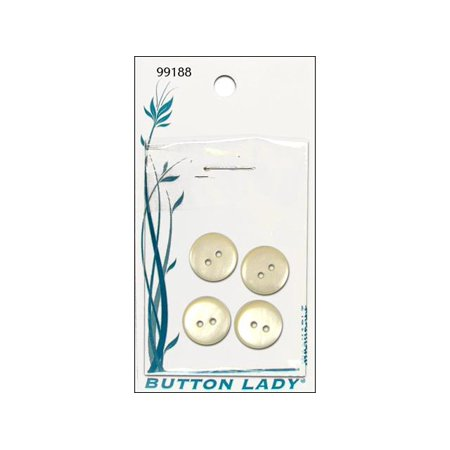 "JHB Button Lady Buttons Cream 1/2"" 4pc"