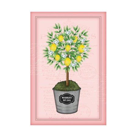 Lemon Topiary - Pink Print Wall Art By Jennifer Pugh