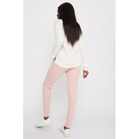 Urban Planet Women's Knit Ribbed Jogger - image 1 of 3