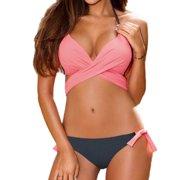 bf986382cc Womens Bandage Bikini Set Push Up Padded Halter Swimsuit Swimwear Bathing  Suit