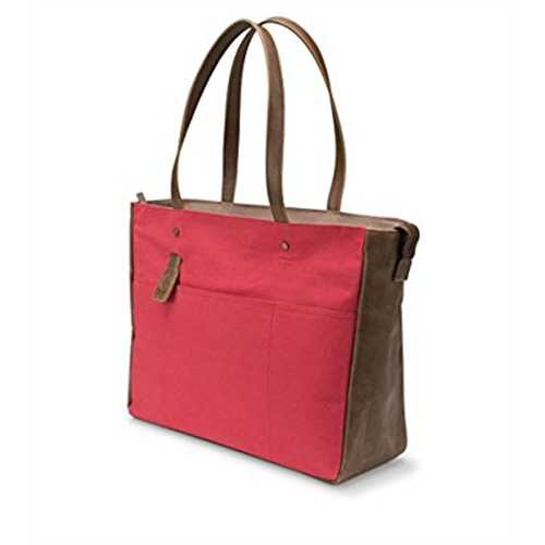HP 15-inch Laptop Canvas Tote Bag (Red/Brown)