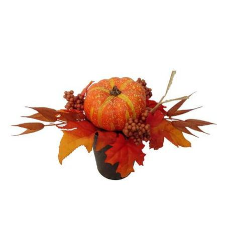 Image of Harvest Orange Pumpkin Pot