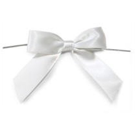 White Satin Twist Tie Food & Party Favor Treat Bags Packaging Bows -12ct for $<!---->
