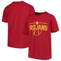 USC Trojans Youth Midway T-Shirt - Cardinal