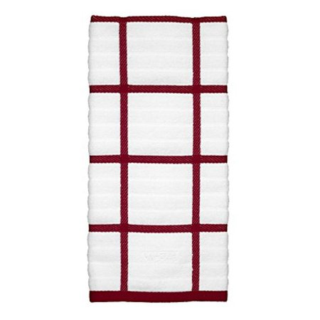 (All-Clad Textiles 100-Percent Cotton Checked Kitchen Towel, Chili)