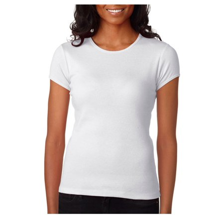 Bella Canvas Women's Baby Rib Ring-Spun Crewneck T-Shirt, Style (Womens Baby Rib Tee)