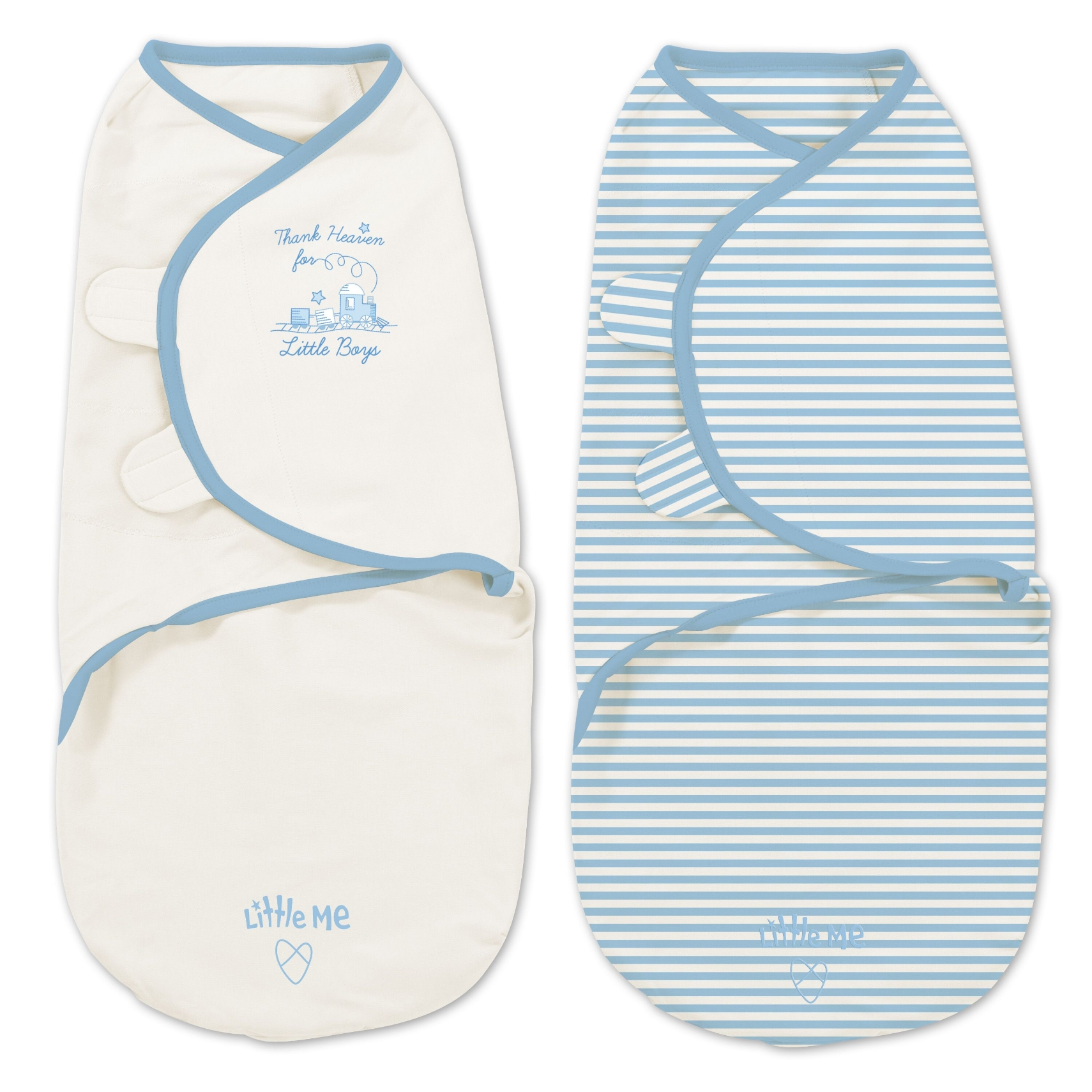 Little Me Original Swaddle 2-PK Thank Heaven for Little Boys (SM)