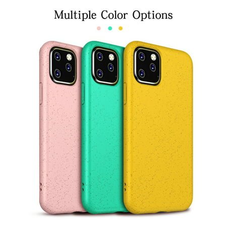 Silicone Phone Case Coque Fashion Case For iPhone 11 Shockproof Frosted Soft TPU Silicone Skin Cover Case + Wheat Straw(Yellow)