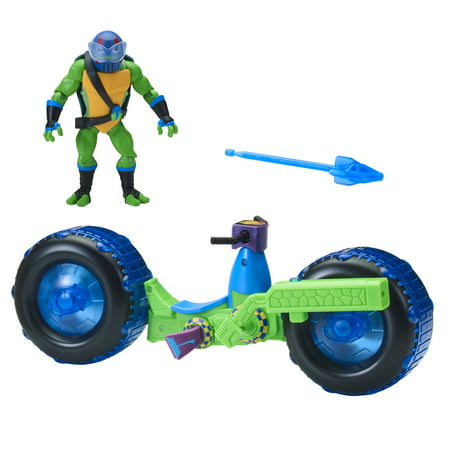 Rise of the Teenage Mutant Ninja Turtle Shell Hog with Exclusive Leonardo](Teenage Mutant Ninja Turtles Shredder)