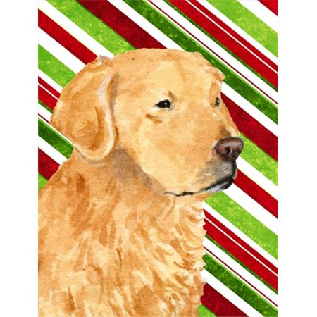 Carolines Treasures SS4545CHF 28 x 40 In. Golden Retriever Candy Cane Holiday Christmas Flag Canvas, House Size - image 1 of 1