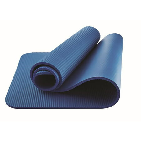 Athletic Works Fitness Mat, Blue, 10mm (Exercise Equipment Mat Blue)