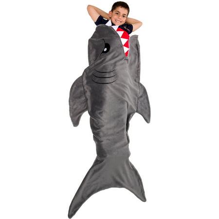 Silver Lilly NEW Shark Tail Plush Animal Sleeping Bag Novelty Blanket for Kids for $<!---->