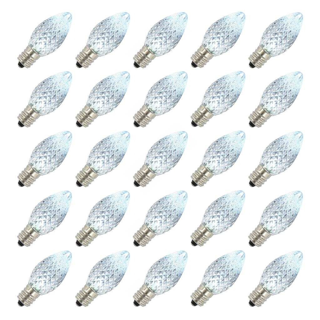 Vickerman C7 Faceted LED Pure White Twinkle Replacement Bulb