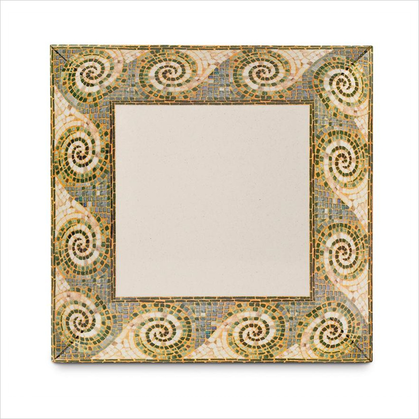 Mosaic 12 inch Square Plate Melamine/Case of 6