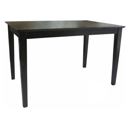 Style Solid Wood - International Concepts Ridgely Solid Wood Top Shaker Styled Dining Table with Straight Legs - Rich Mocha