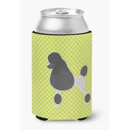 Poodle Checkerboard Green Can or Bottle Hugger - image 1 de 1