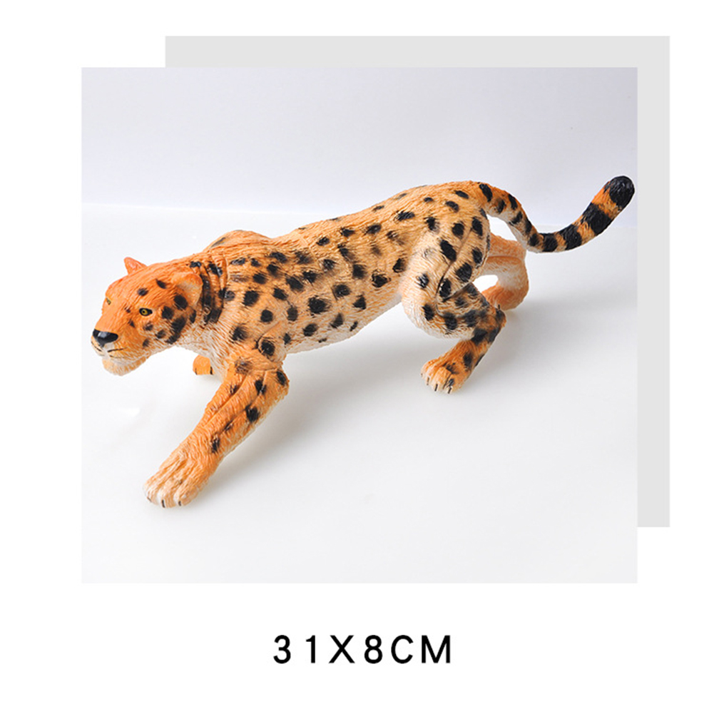 Kids High Simulation Animals Models Large Size Static Plastic Model Toys Gifts for Children Color:leopard