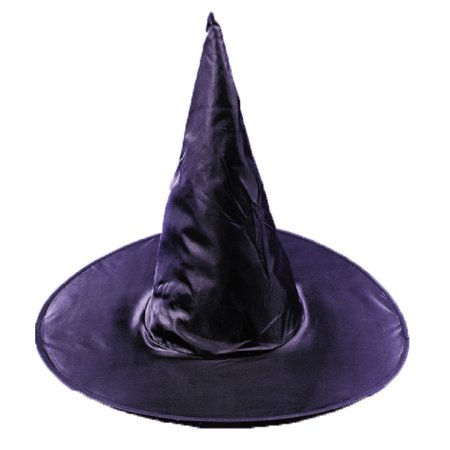 Witch Wands For Halloween (Adult Taffeta Witch Hat Adult Halloween)