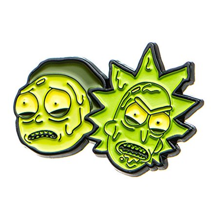 Cartoon Network Rick and Morty: Rick and Morty Toxic Look Enamel Pin Enamel Wreath Pin
