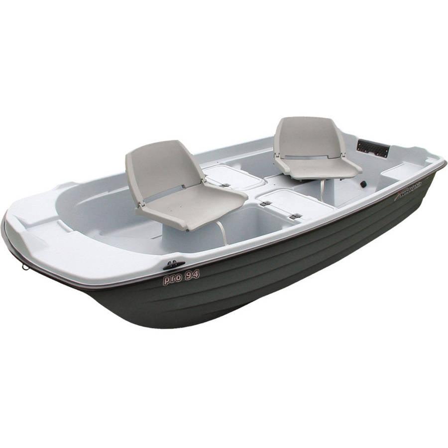 Sun Dolphin Pro 9.4' Sun Dolphin Fishing Boat in Light Gray / Dark Gray