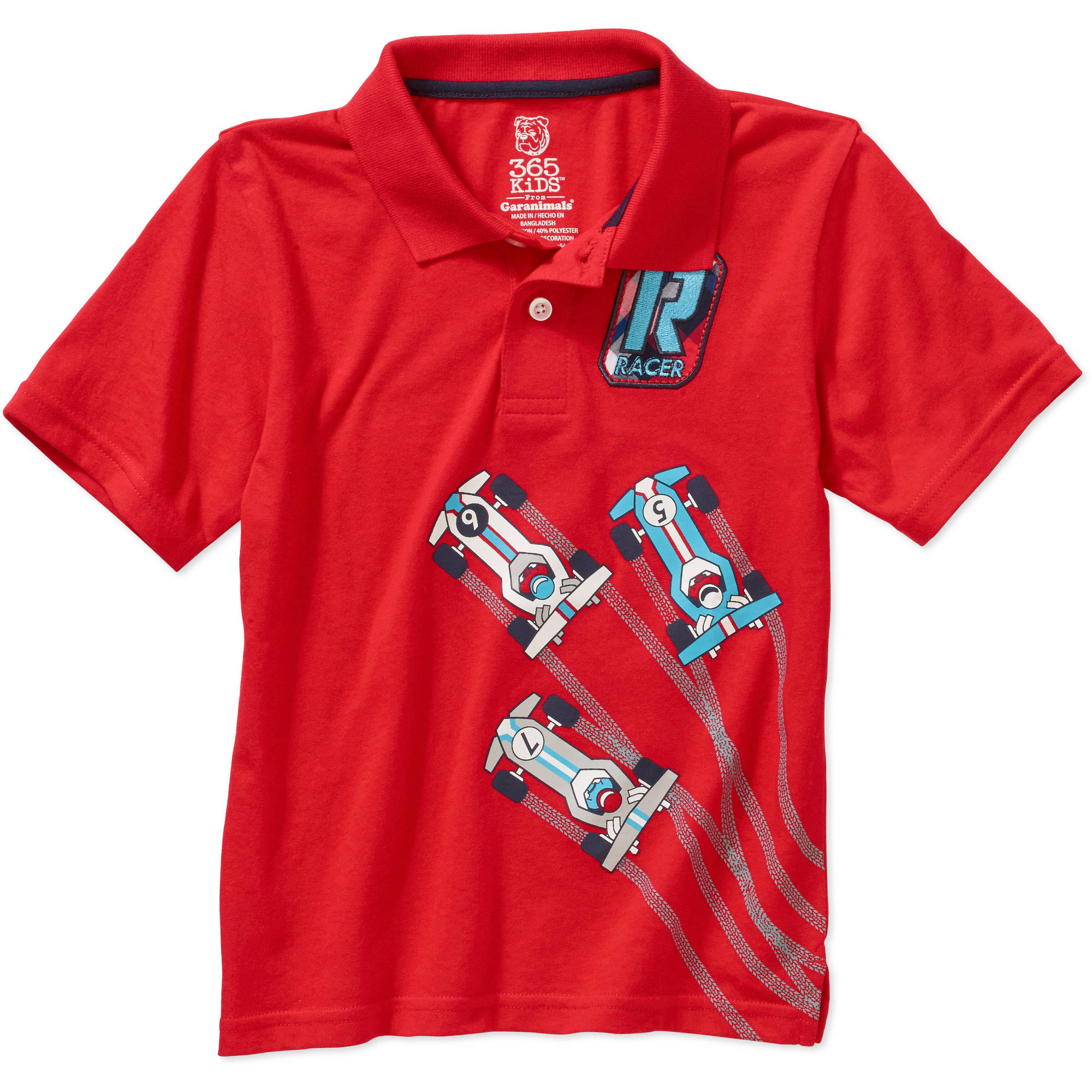 365 Kids From Garanimals Boys' Short Sleeve Graphic Applique Polo
