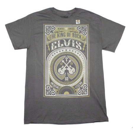 Elvis Presley 60 Years Legend T-Shirt - Charcoal Gray - Large