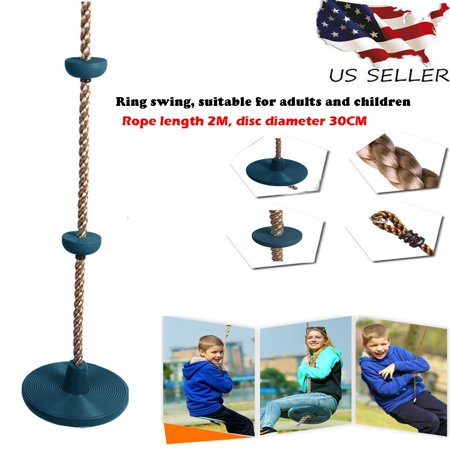 Smart Novelty Rope Swing With Foot Holder Platform And Disc Swing Seat Set, Rope Ladder ()