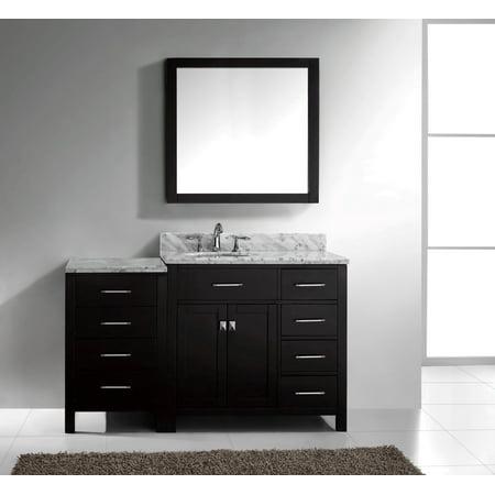 Virtu Caroline Parkway 57 Single Bathroom Vanity Set With Mirror