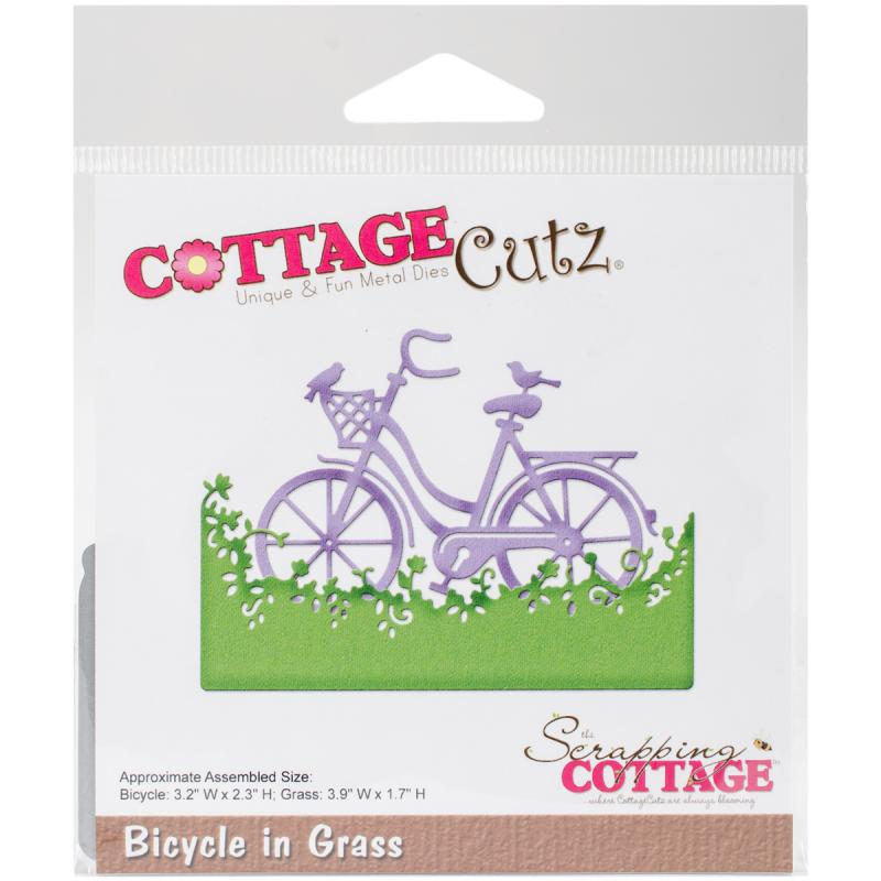 "Cottagecutz Die-bicycle In Grass, 1.7"" To 3.9"""