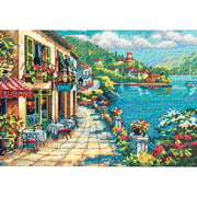 "Dimensions Gold Collection ""Petite Overlook Cafe"" Counted Cross Stitch Kit, 7"" x 5"""