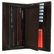 Genuine leather multi credit card ID checkbook cover wallet 253 CF