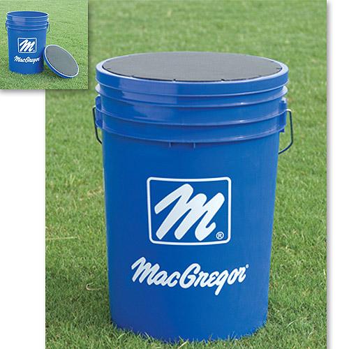 MacGregor Bucket Filled with 3 Dozen Baseballs