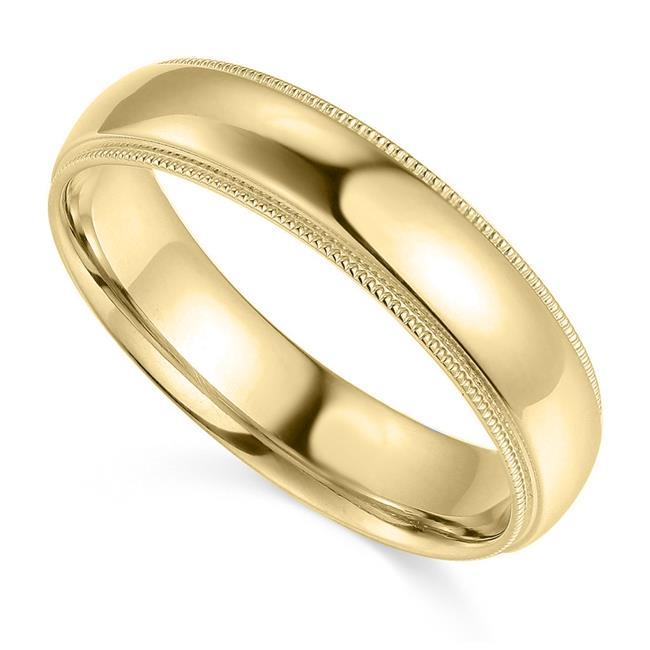 Precious Stars Jewelry 14k Yellow Gold Diamond-Cut 3-mm Solid Bangle Bracelet
