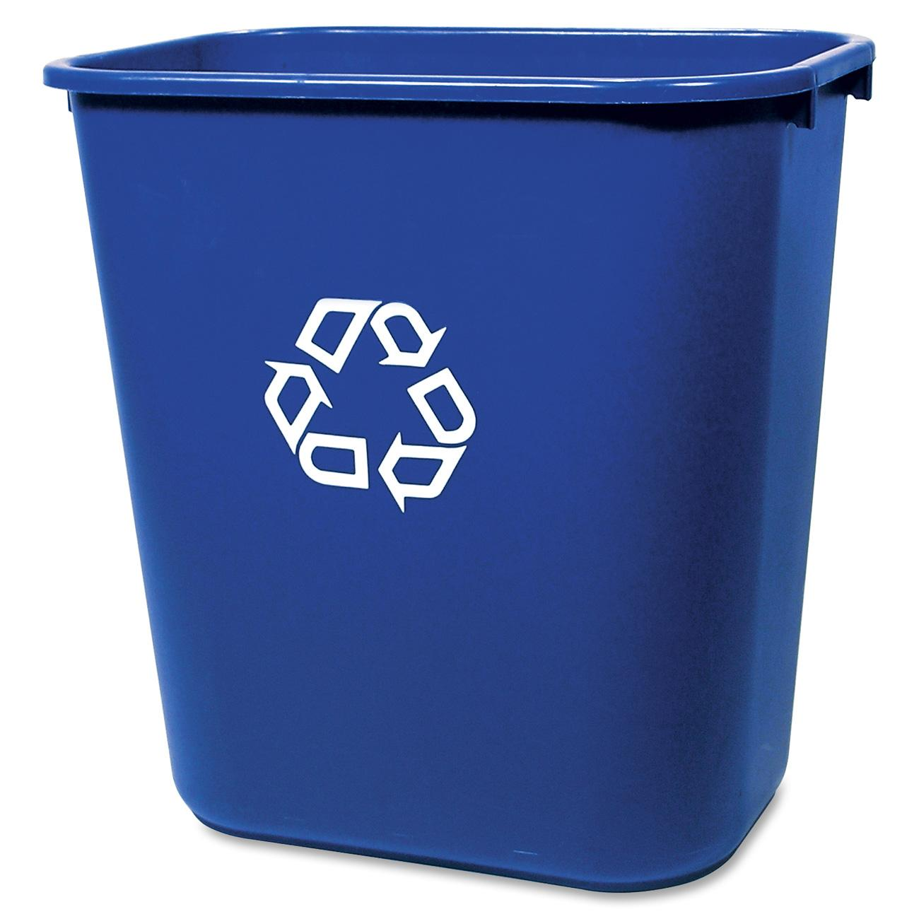 Rubbermaid Deskside Recycling Container, Blue
